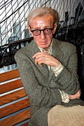 Work Of Art Photo Posters - woody Allen Poster by Sophie Vigneault
