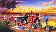 Adult Male Prints - Woody Beach Print by Bruce kaiser