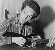 Woody Guthrie Art - Woody Guthrie 1912-1967, Folk Singer by Everett