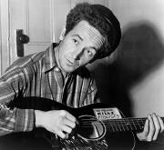 Guitarist Photo Posters - Woody Guthrie (1912-1967) Poster by Granger
