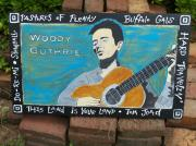 Woody Guthrie Paintings - Woody Guthrie by Mojo Goat
