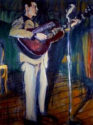 Woody Guthrie Paintings - Woody by Les Leffingwell