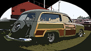Surfin Framed Prints - Woody Wagon Framed Print by Steve McKinzie