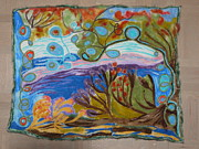 Scenery Tapestries - Textiles Posters - Woolscape Poster by Heather Hennick