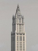 Woolworth Building Framed Prints - Woolworth  Black and White Two Framed Print by Christopher Kirby
