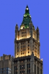 Nightfall Prints - Woolworth Bldg at Nightfall Print by Allan Einhorn