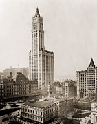 Woolworth Posters - Woolworth Building, The Tallest Poster by Everett