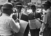 Discrimination Photo Framed Prints - Woolworths Protest, 1963 Framed Print by Granger