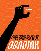 Saul Bass Prints - Word Obadiah Print by Jim LePage