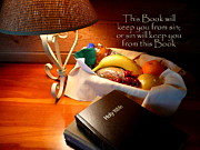Loaf Of Bread Prints - Word of God Print by Cindy Wright