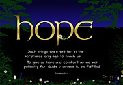 Scripture Art Canvas Framed Prints - Word of hope Framed Print by Greg Long