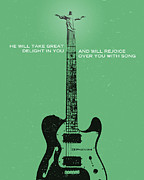 Jim Lepage Prints - Word Zephaniah Tele Print by Jim LePage
