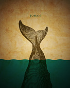 Jonah Metal Prints - WordJonah Metal Print by Jim LePage