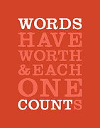 Write Prints - Words Count Print by Megan Romo