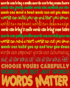 Responsibility Digital Art - Words Matter by Pharris Art