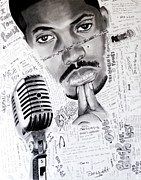 Hip Hop Drawings Posters - Words N Lyrics Poster by Saheed Fawehinmi