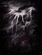 Lightning Digital Art - Words of God by Rachel Christine Nowicki