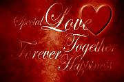 Forever Together Prints - Words of Love Print by Phill Petrovic