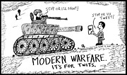 Ironic Drawings Originals - Words of War by Yasha Harari