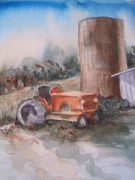 Tractor Mixed Media Framed Prints - Work Horse Framed Print by Sandy Collier