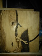 Work Pyrography Prints - Work In Progress Encore Day 4 Print by Cheret Adar