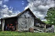 Barn Photo Metal Prints - Work is all done Metal Print by Pete Hellmann