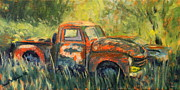 Rusty Truck Paintings - Work Truck by Daniel W Green