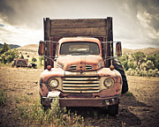 Sheri Van Wert Framed Prints - Work Truck in the Sage Framed Print by Sheri Van Wert