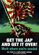 Wwii Propaganda Metal Prints - Work Where Youre Needed Metal Print by War Is Hell Store