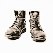 Unhygienic Prints - Workers Boots Print by Kevin Curtis