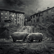 Unreal Digital Art - .workers. by Michal Giedrojc