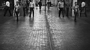 Bangkok Photos - Workers on walking way at Siam in office hours  by Setsiri Silapasuwanchai
