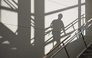 Workplace Framed Prints - Workers Shadow in a Stairwell Framed Print by Andersen Ross