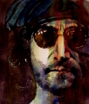 John Lennon Painting Metal Prints - Working Class Hero Metal Print by Paul Lovering
