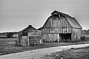 Storage Framed Prints - Working Farm Barn and Storage Bin Framed Print by Douglas Barnett