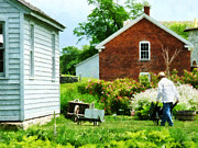 Farmhouses Art - Working on the Farm by Susan Savad