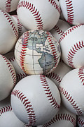 Stitching Prints - World baseball Print by Garry Gay