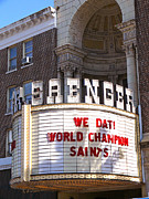 Saenger Metal Prints - World Champion Saints Metal Print by Jeanne  Woods