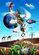 Photo Manipulation Originals - World Cleanup by Pieter Vonk