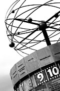 Berlin Art - World Clock Berlin black and white photography by Falko Follert