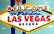 World Famous Las Vegas Sign Daytime Print by Teo Alfonso