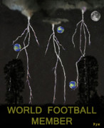 World Cup Mixed Media Framed Prints - World Football Member Framed Print by Eric Kempson