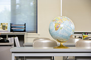 Grade School Prints - World Globe Print by Andersen Ross