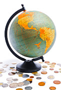 Money Photo Originals - World Globe by Marius Sipa