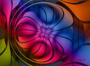Fractal World Prints - World of Colors Print by Jutta Maria Pusl