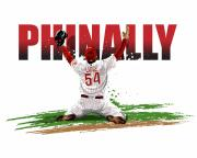 Brad Lidge Posters - World Series Champions Phinally Poster by David E Wilkinson