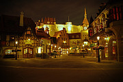 Night Pyrography Prints - World Showcase - Germany Pavillion Print by AK Photography