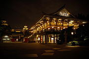 Night Pyrography Prints - World Showcase - Japan Pavillion Print by AK Photography