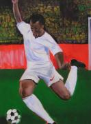 Soccer Painting Prints - World Soccer I Print by Gail Eisenfeld