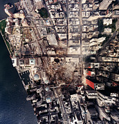 Terrorism Prints - World Trade Center, Aerial Photograph Print by Everett